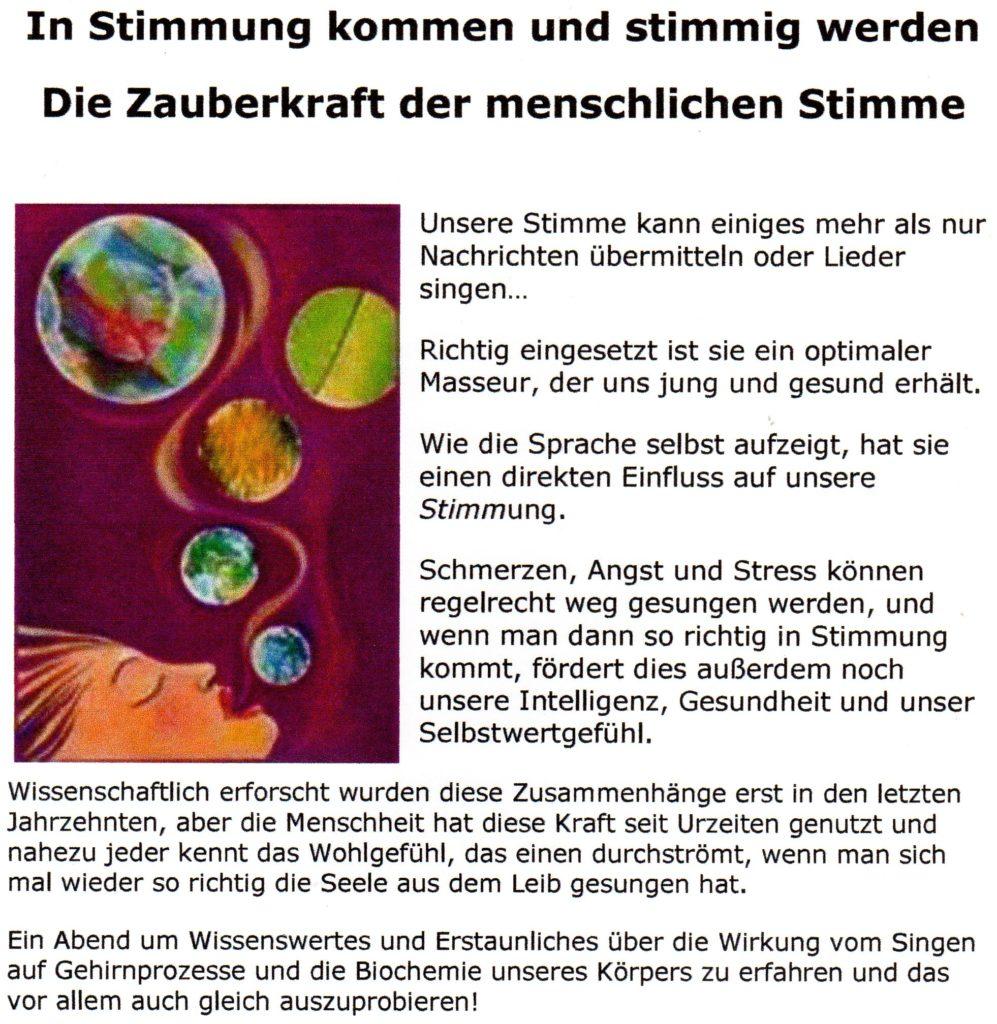 """14.9. 19-22h Workshop """"in Stimmung kommen und stimmig sein"""" mit ..."""